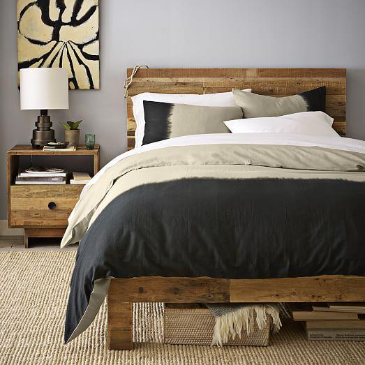 Emmerson reclaimed wood bed natural west elm - Bed elm massief ...