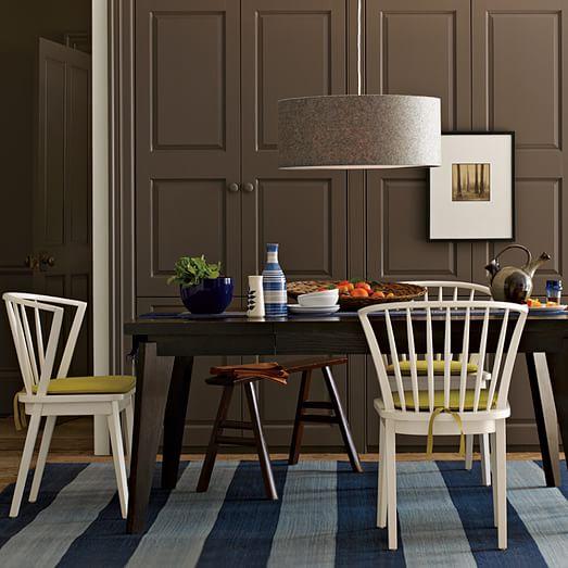 short drum pendant gray felt west elm. Black Bedroom Furniture Sets. Home Design Ideas