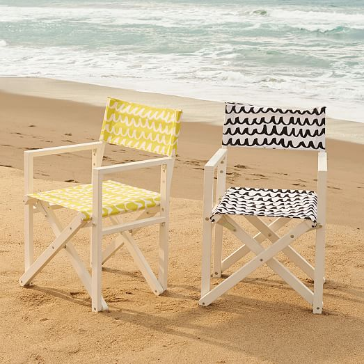 Director 39 s chair white yellow west elm for West elm yellow chair