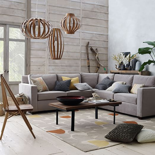 Henryr 3 piece l shaped sectional west elm for Henry sofa sectional west elm