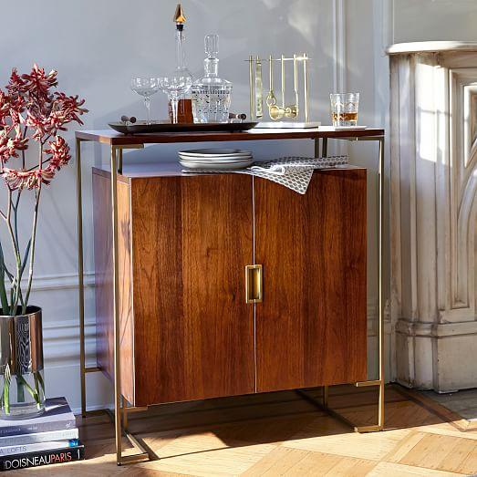 Baron Deco Bar Cabinet Espresso West Elm