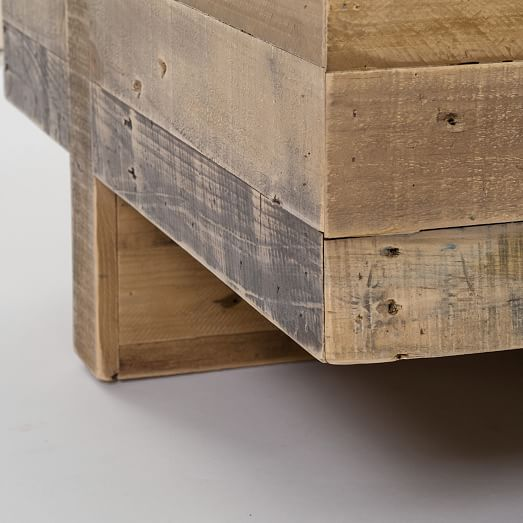Emmerson™ reclaimed wood block side table west elm
