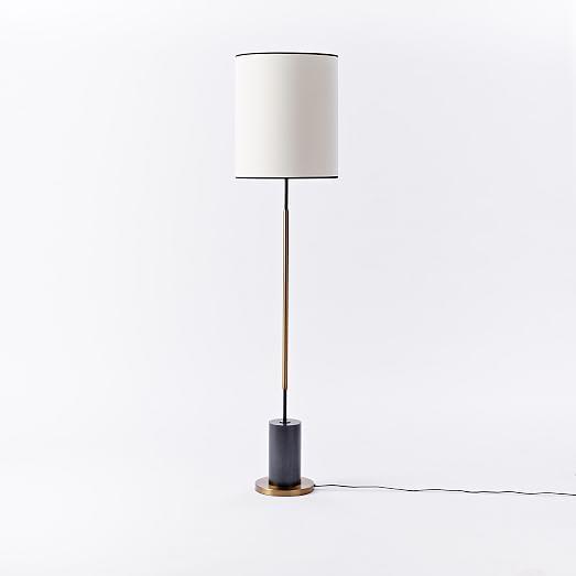 west elm rejuvenation cylinder floor lamp west elm. Black Bedroom Furniture Sets. Home Design Ideas
