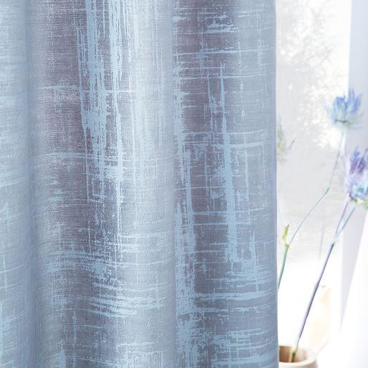 crosshatch velvet curtain