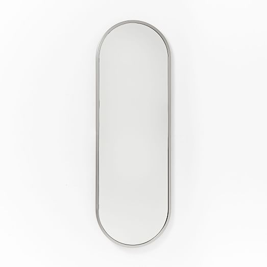 Metal Framed Oval Floor Mirror West Elm