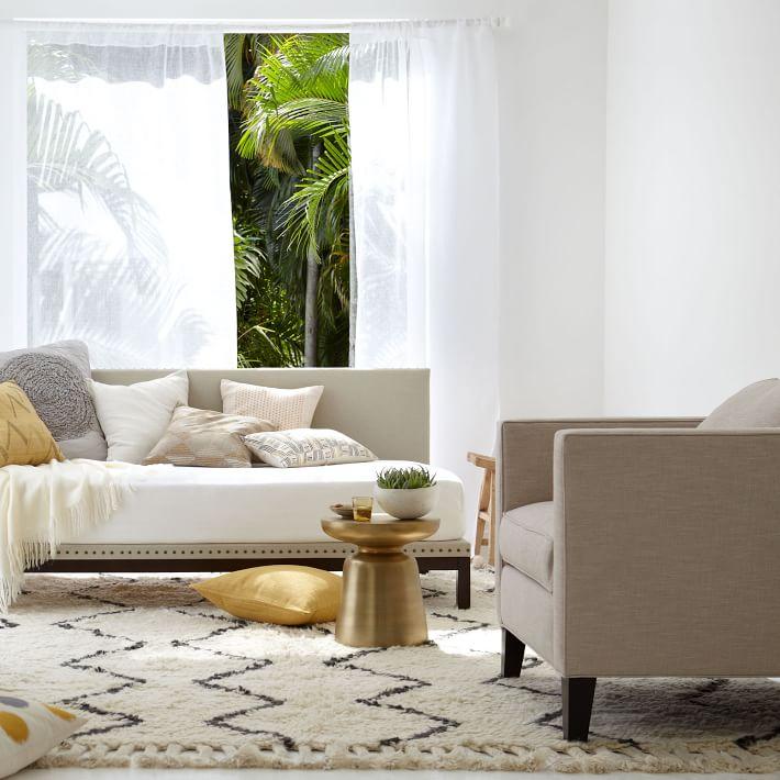 cowhide rug brown white