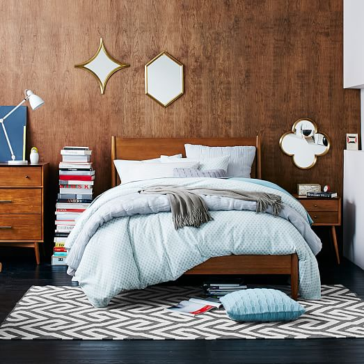 Mid century bed acorn west elm for West elm bedroom ideas