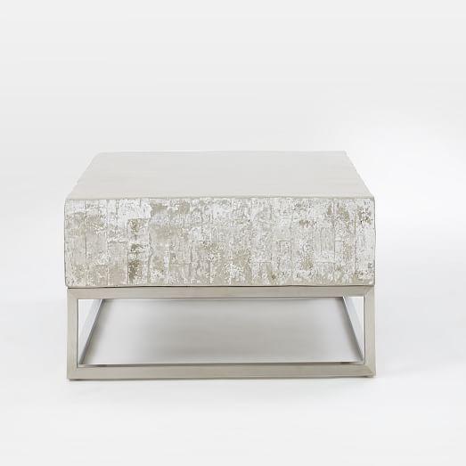 Concrete + Chrome Coffee Table