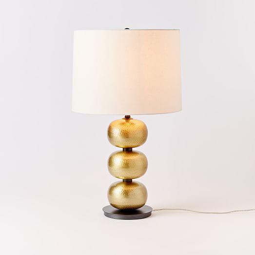 abacus hammered metal table lamp antique brass west elm. Black Bedroom Furniture Sets. Home Design Ideas