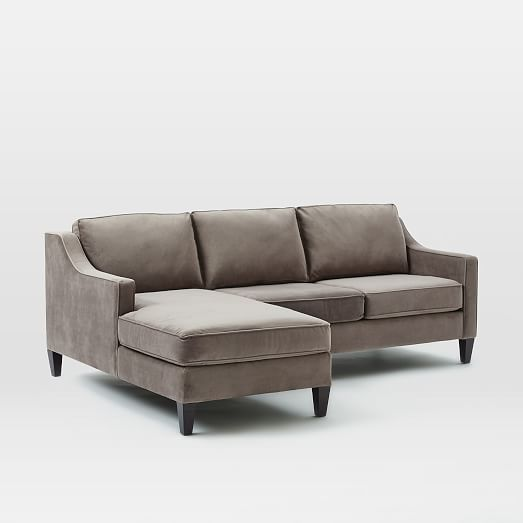 Paidge 2 piece chaise sectional west elm for 2 piece sectional with chaise