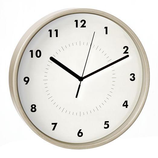 Simple Wood Wall Clock West Elm