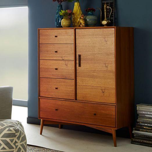 mid century chifforobe acorn west elm. Black Bedroom Furniture Sets. Home Design Ideas