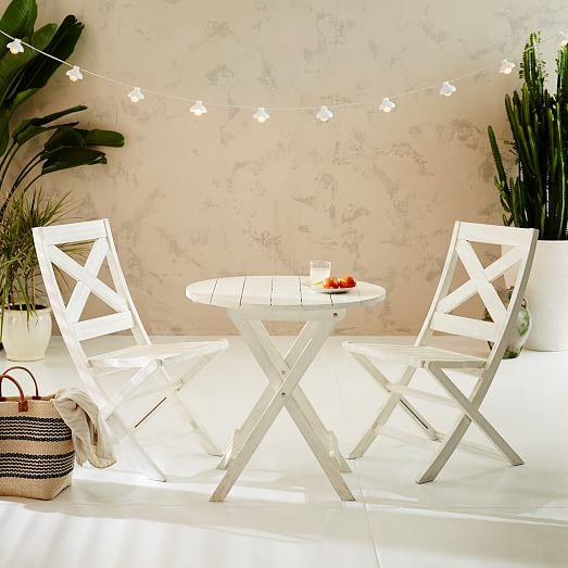 Jardine Folding Chair White West Elm