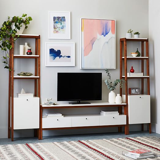 Modern media console large west elm Modern media console