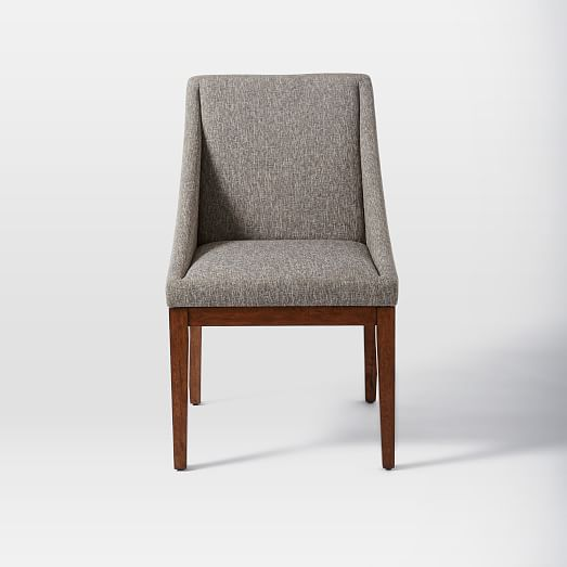 curved upholstered chair west elm