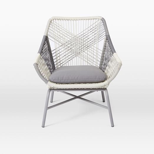 Huron Small Lounge Chair Cushion – Gray