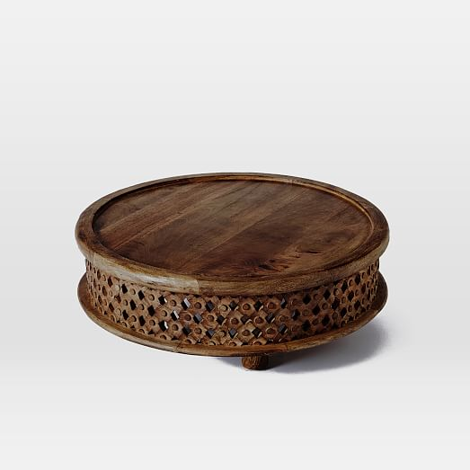 Carved Round Coffee Table Rascalartsnyc: Carved Wood Coffee Table