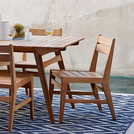 Mid Century Dining Chair Teak West Elm