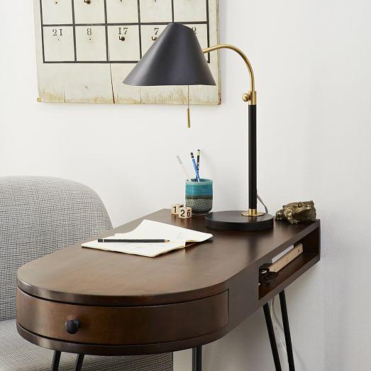 mid century task table lamp west elm. Black Bedroom Furniture Sets. Home Design Ideas