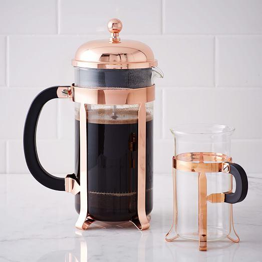 bodum copper coffee collection west elm. Black Bedroom Furniture Sets. Home Design Ideas