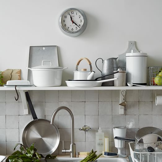 Enamel Kitchen Accessories: White Enamel Canisters