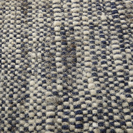 Plain Weave Sweater Wool Rug Midnight West Elm