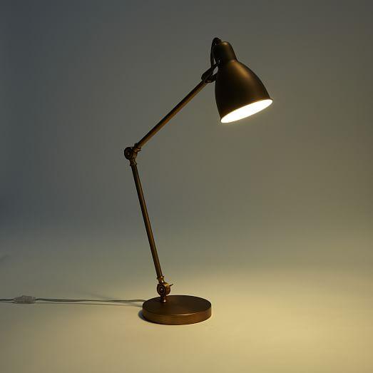 industrial task table lamp west elm. Black Bedroom Furniture Sets. Home Design Ideas