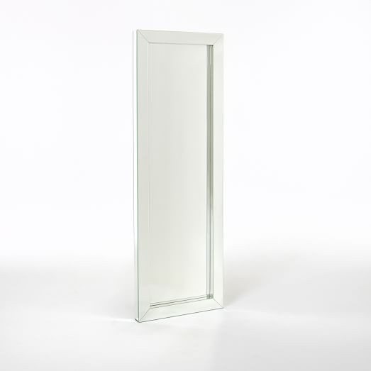 parsons floor mirror mirrored west elm. Black Bedroom Furniture Sets. Home Design Ideas