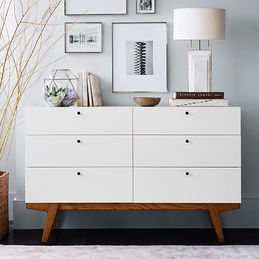 Modern 6 drawer dresser west elm - Contemporary bedroom chest of drawers ...