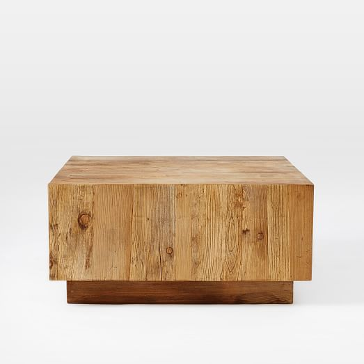 plank coffee table west elm