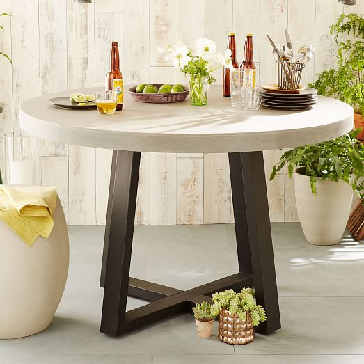 Slab Round Dining Table