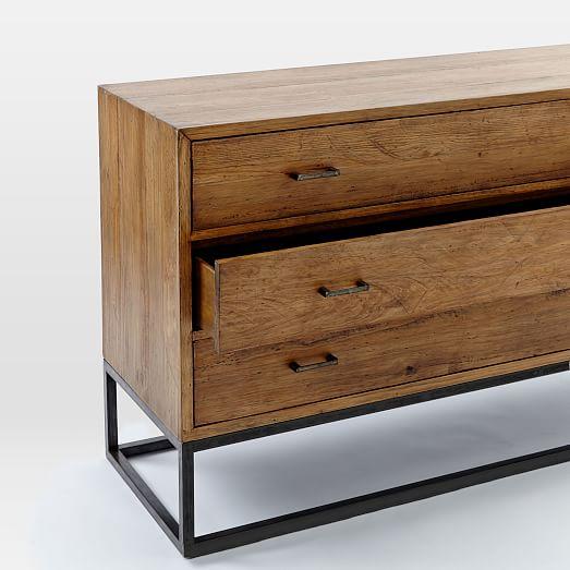 Industrial drawer dresser wide west elm