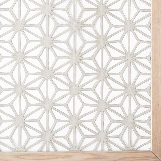 Grey Star Wall Decor : Framed handmade paper wall art gray star west elm
