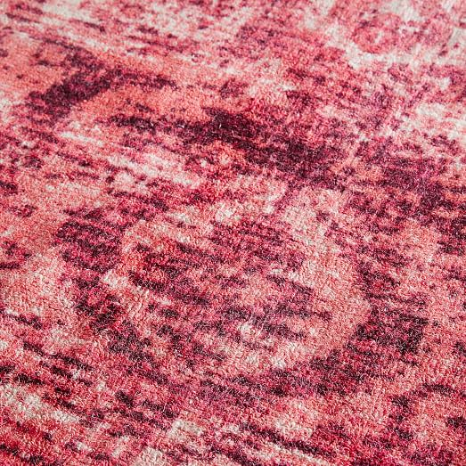 Distressed Arabesque Wool Rug Shockwave West Elm