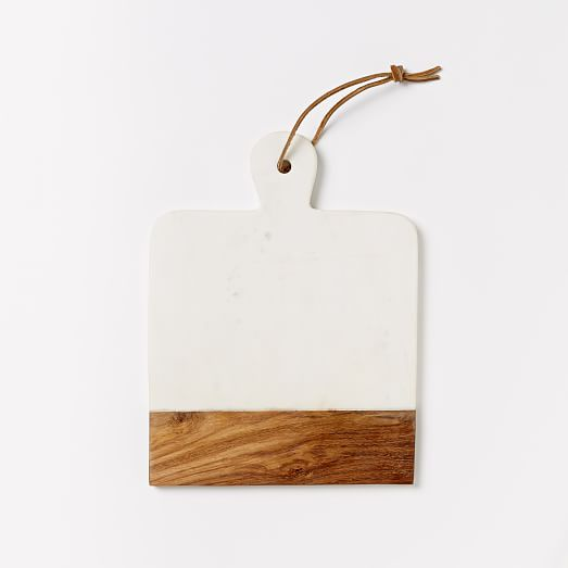 marble  wood cutting board  rectangle  west elm,