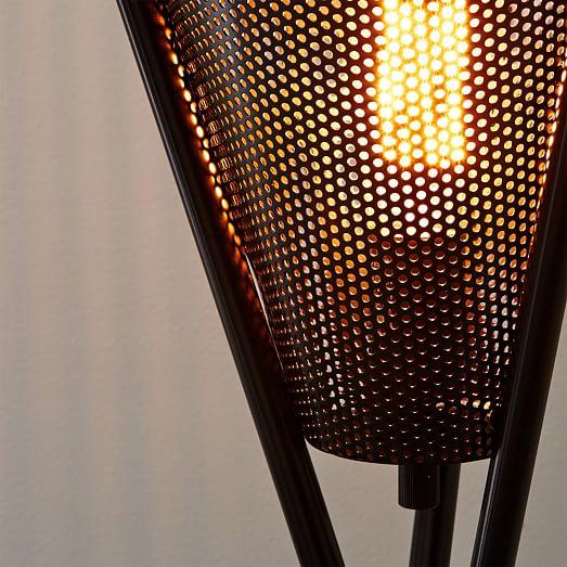 Mid Century Tripod Floor Lamp Antique Bronze West Elm
