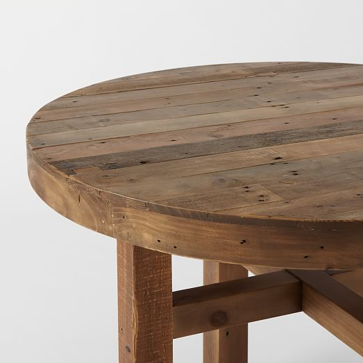 emmerson reclaimed wood round dining table west elm. Black Bedroom Furniture Sets. Home Design Ideas