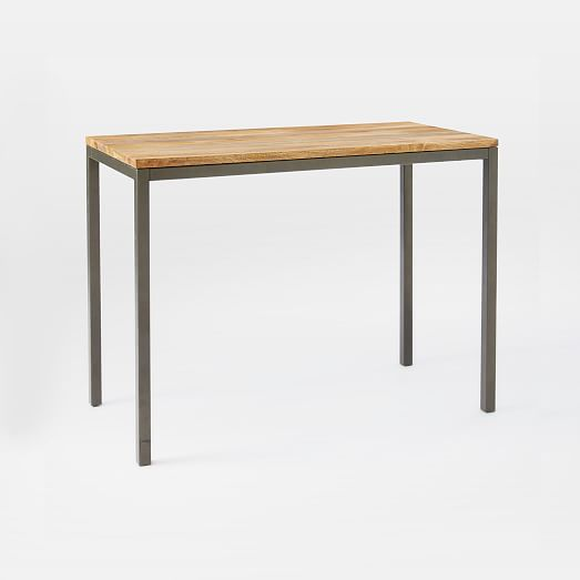 Box Frame Counter Table Wood West Elm