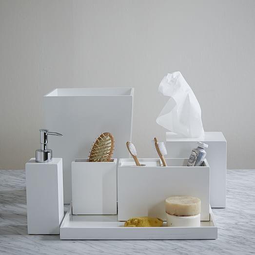 Lacquer Bath Accessories White West Elm