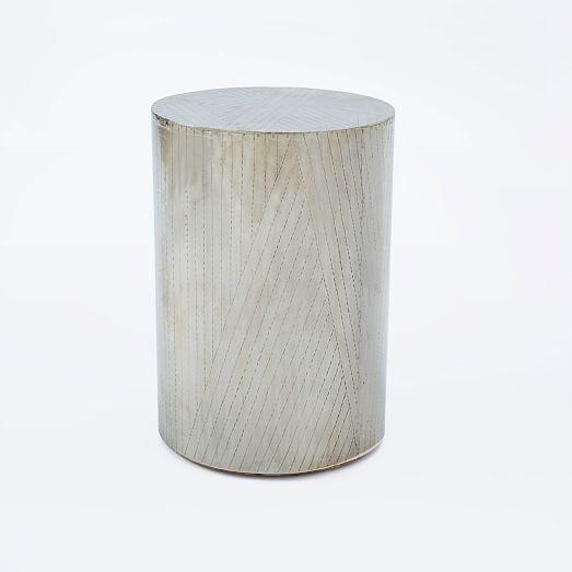 etched metal side table west elm. Black Bedroom Furniture Sets. Home Design Ideas
