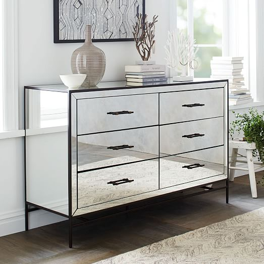 Mirrored 6 Drawer Dresser West Elm