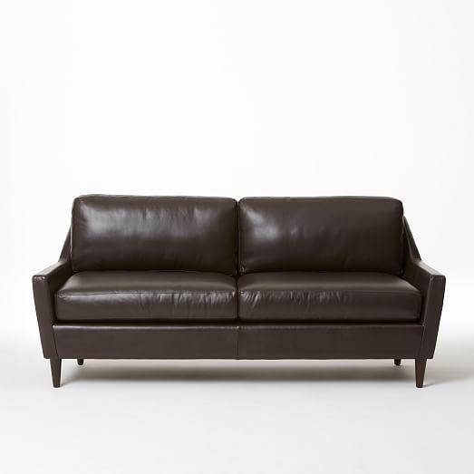 Everett Tufted Leather Settee In 2019: Everett Leather Sofa