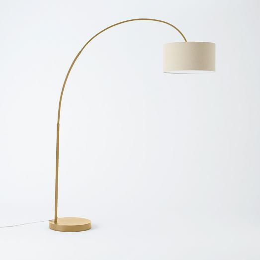 overarching floor lamp antique brass west elm. Black Bedroom Furniture Sets. Home Design Ideas