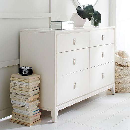 niche 6 drawer dresser white west elm. Black Bedroom Furniture Sets. Home Design Ideas