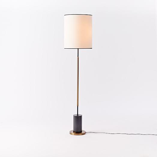 West Elm Lamp: West Elm + Rejuvenation Cylinder Floor Lamp