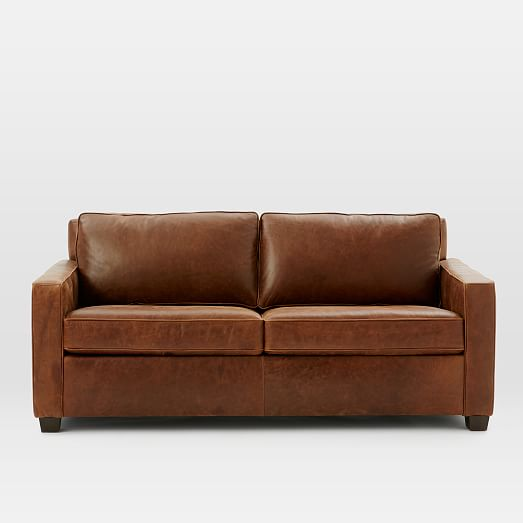 Henry174 Basic Leather Sleeper Sofa Queen Molasses  : henry basic leather sleeper sofa queen molasses c from www.westelm.com size 523 x 523 jpeg 14kB