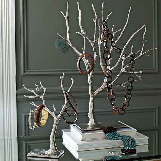 cast metal jewelry tree extra large west elm