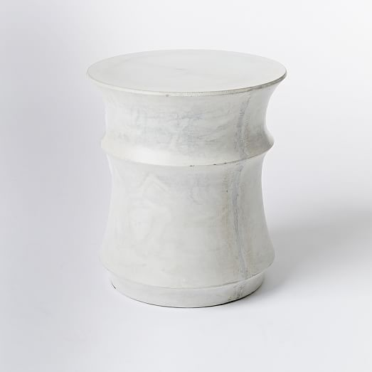 Sculpted drum side table west elm for Drum side table