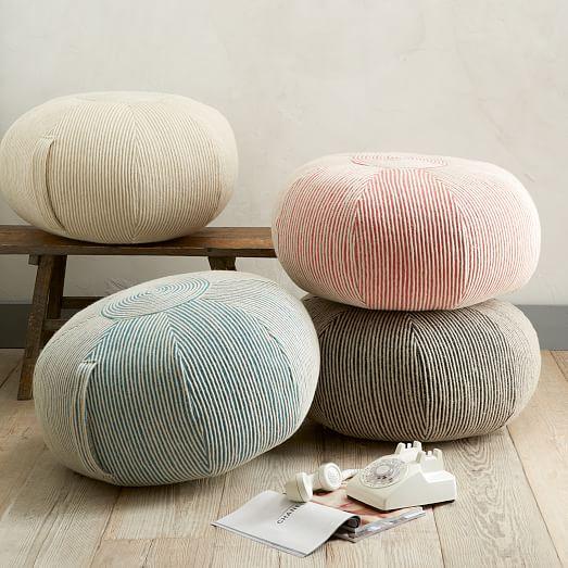 round swirl pouf west elm. Black Bedroom Furniture Sets. Home Design Ideas