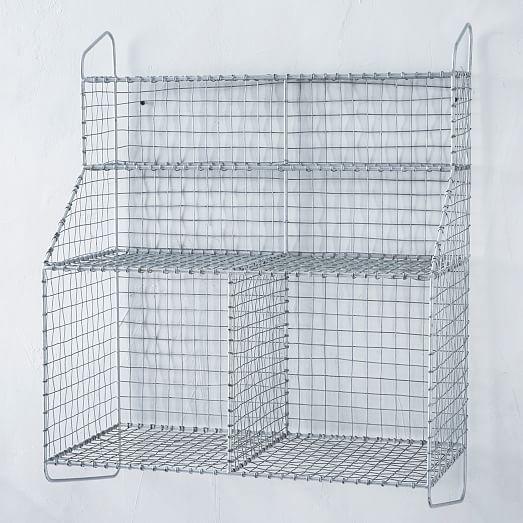 Wire mesh storage wall organizer west elm
